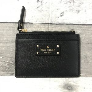 Kate Spade Adi Grove Black Leather  Credit Card